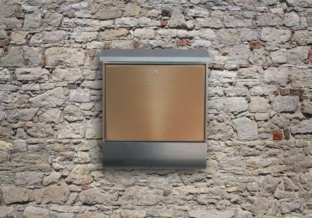 standard steel: metal mailbox on wall