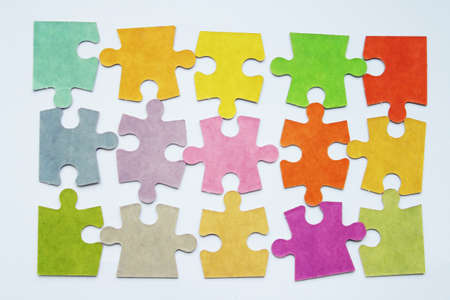 colourful puzzle background photo