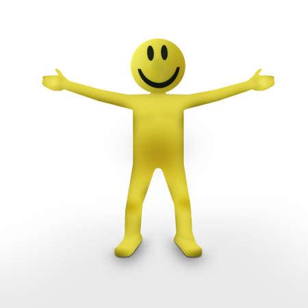 Smiley Face Person  Stock Photo