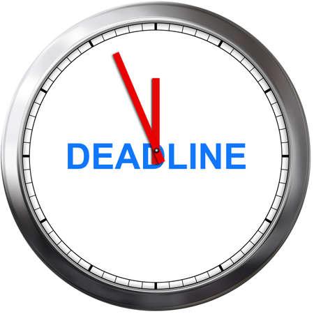 reflection of life: deadline concept Stock Photo