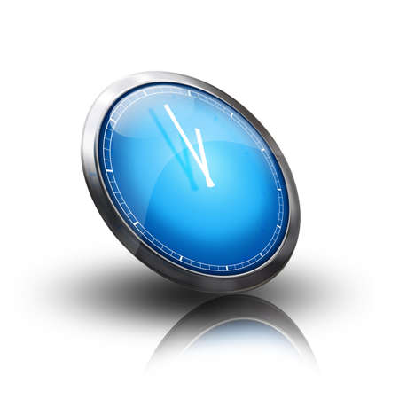 clock icon blue photo
