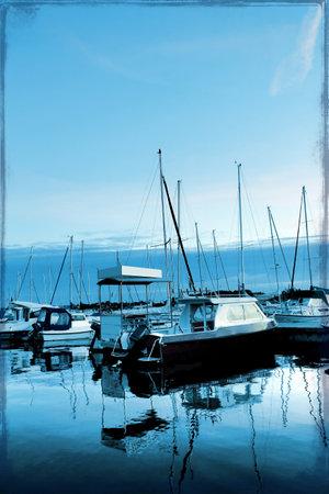 fishing village:  Sailingships in Rostock, germany