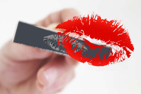 Stamp Stamping Red kiss photo
