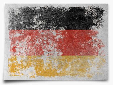painterly effect: Germany grunge flag Stock Photo