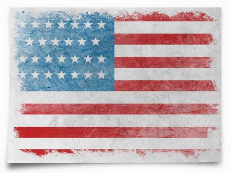 bandera blanca: Grunge bandera de EE.UU.