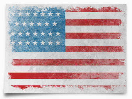 united states flag: Grunge USA flag