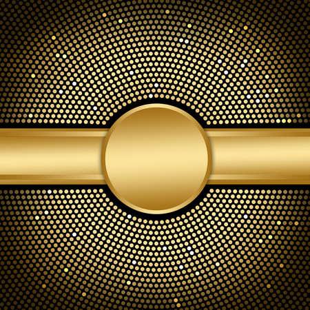 fiestas electronicas: Fondo De Oro Disco Foto de archivo