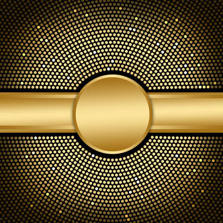 Golden Disco  Background Standard-Bild