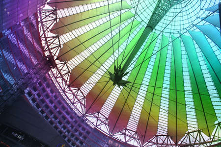 sony: oof of the Sony Center, Berlin Germany