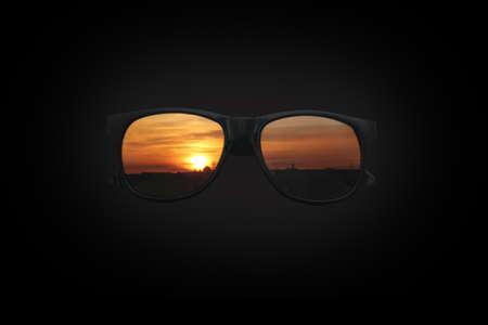 Sunglasses at Sunset on black