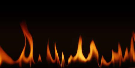 llamas de fuego: llamas de fuego sobre un fondo negro