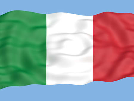 resizable: Flag of italy waving in the wind Stock Photo