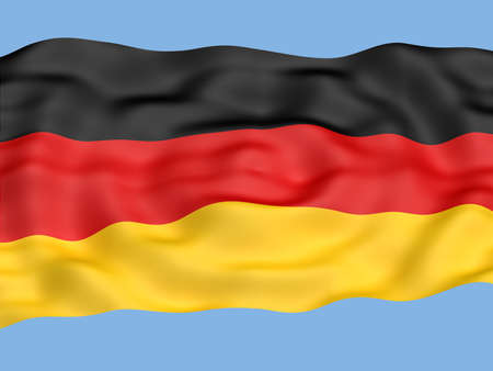 stalin: Flag of Germany  waving in the wind Stock Photo
