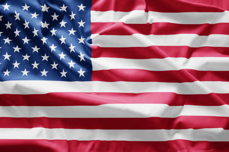 hymn: Closeup of  Flag of usa