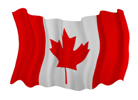 canadian flag: Closeup of  Flag of canada