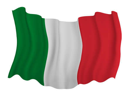 resizable: Closeup of  Flag of italy Stock Photo
