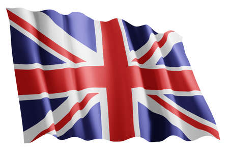 Wapperende vlag van het Verenigd Koninkrijk