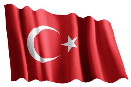 Closeup of  Flag of turkey Imagens