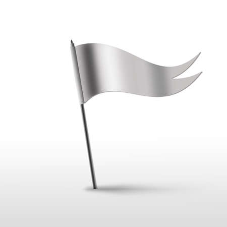Flag white isolated on a white