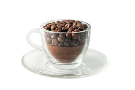 coffe cup: Coffe cup with beans Stock Photo