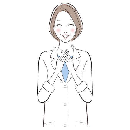 A doctor woman smiling with feeling relief
