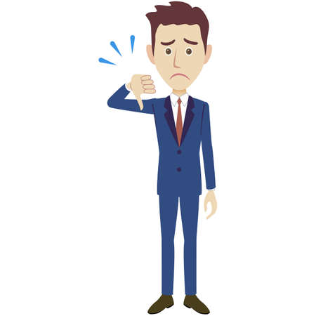 A illustration of a businessman wearing suits