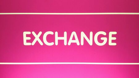 money exchange: Money Exchange with Magenta Background