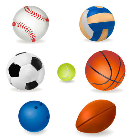 motion picture: Set of sport balls.