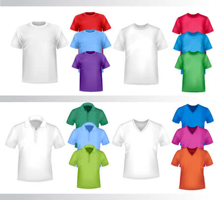 Design set of shirts  Vector