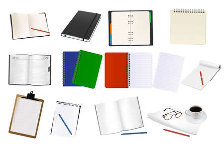 Big set of notebooks and papers.   Vector