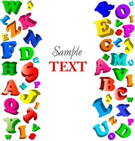 addition: Contexte avec l'alphabet de couleurs.