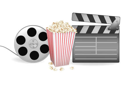 illustration of background of movie related items  Vector