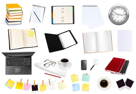 Business and office supplies.  Stock Vector - 8791706
