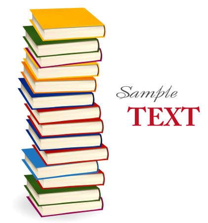 Stack of colorful Books. Illustration.  Standard-Bild - 8791702