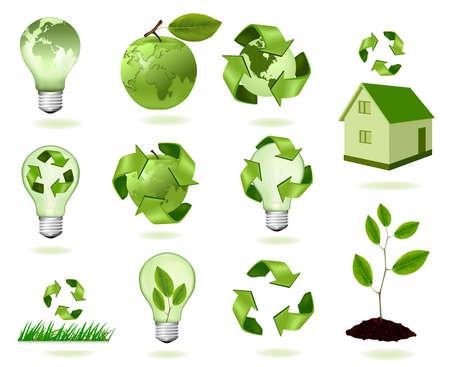 Big set of ecology icons. illustration.  Stock Vector - 8791707