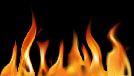raging: Fire flame background. illustration.  Illustration