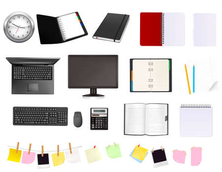 Business and office supplies. Stock Vector - 8791759