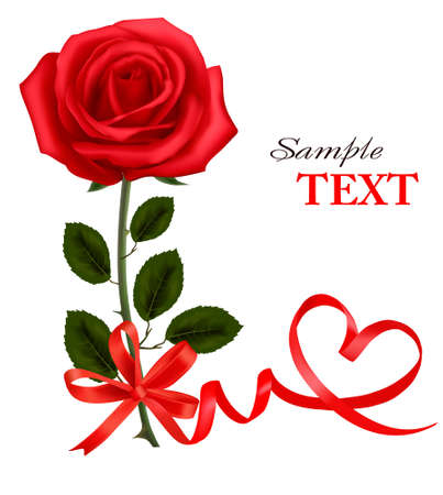 rose tree: Valentine background. Two red roses and hearts.