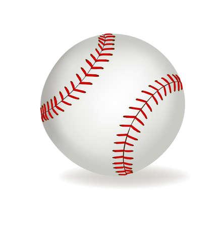 Honkbal op een witte achtergrond.