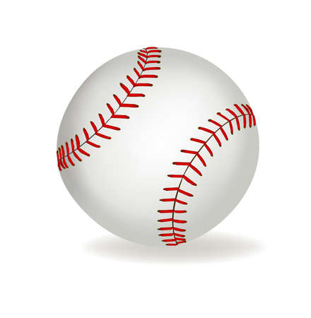 softball:  Baseball ball on a white background.