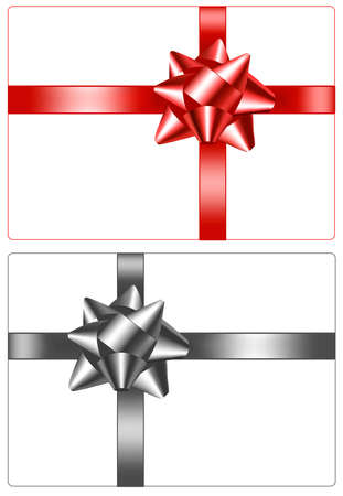 Collection of color bows with ribbons. Stock Vector - 8792024