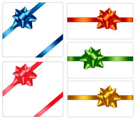 Collection of color bows with ribbons. Stock Vector - 8792042