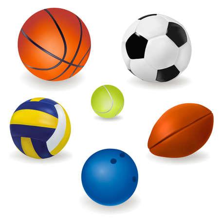 base ball: Set of sport balls.  Illustration