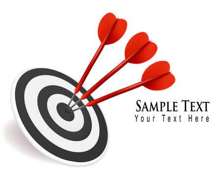target shooting: Success target in business. Illustration.
