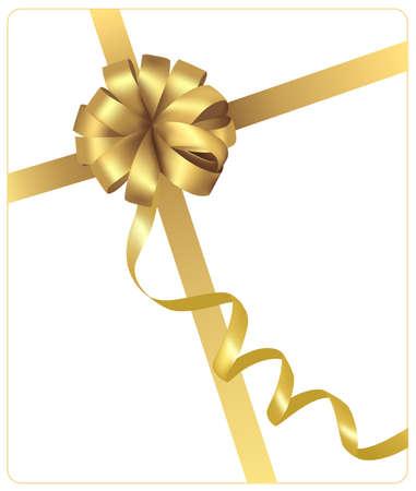Bow jaune avec des rubans. Illustration