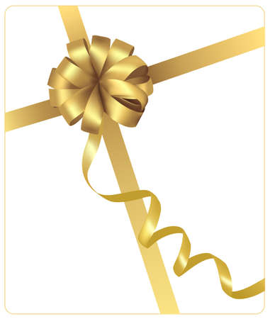 gift tag: Yellow bow with ribbons.