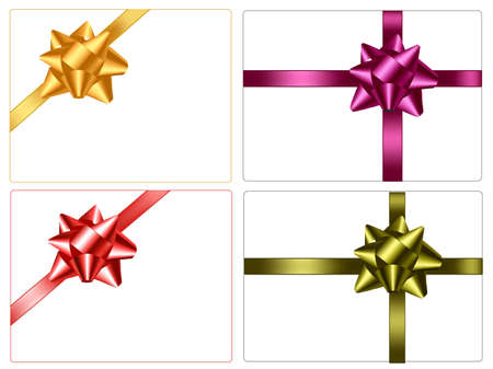 Collection of color bows with ribbons. Stock Vector - 8792034