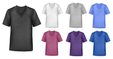 Plantilla de diseño de camiseta de color.  Foto de archivo - 8792052