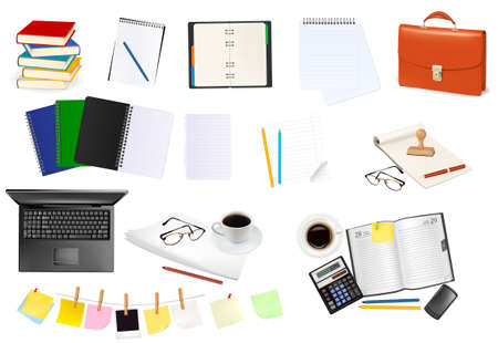 Business and office supplies. illustration. Stock Vector - 8792081