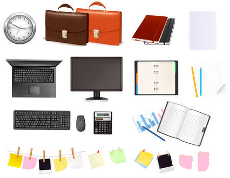 Business and office supplies. illustration.  Stock Vector - 8792073
